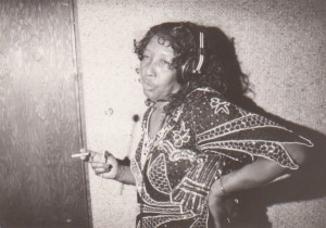 Jessie Mae Hemphill in the recording studio